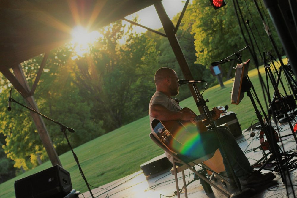 Evan at the Firemen's Field in Penn Yan, NY at a show set up by WorldXStorm entertainment to save the Samson Theatre. Photo courtesy of Micheal Cappaluti