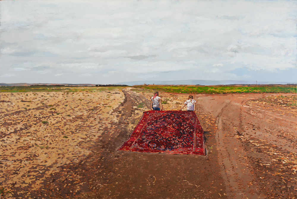 Razan and Adan #2, 2011, oil on canvas, 100x150 cm, private collection, Israel