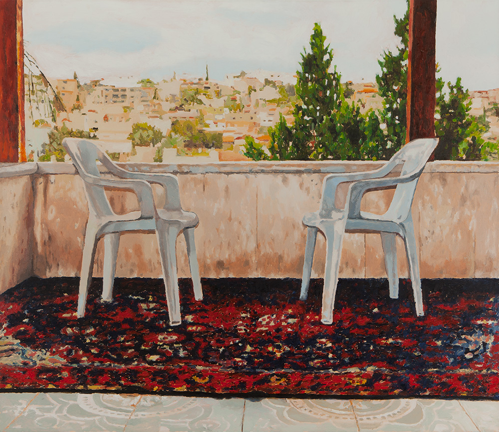Balcony #1, 2011, oil on canvas, 130x150 cm, private collection, Tel Aviv