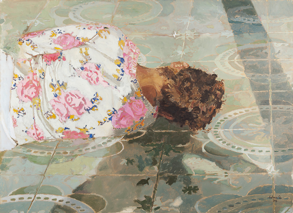 Lying Figure, 2013, oil on canvas, 130x180 cm, collection of Ilana Goor Museum, Tel-Aviv Jaffa, Israel