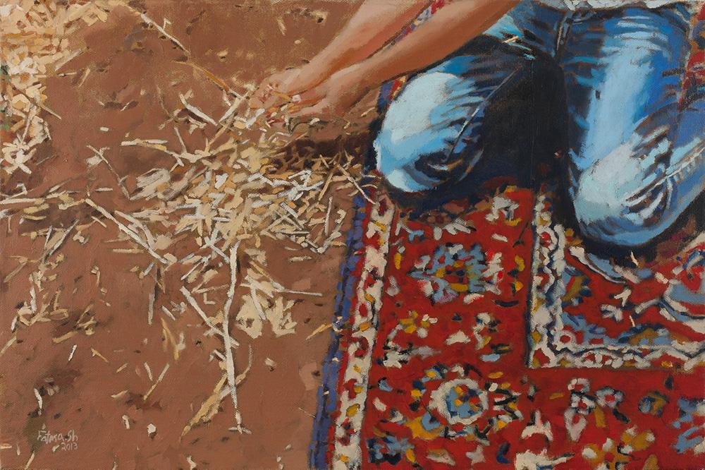 Razan #3, 2013, oil on canvas, 40x60 cm, private collection, Tel Aviv