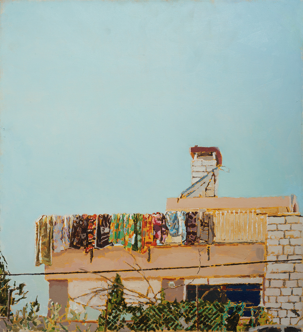 House #1, 2014, oil on canvas, 60x55 cm, private collection, USA