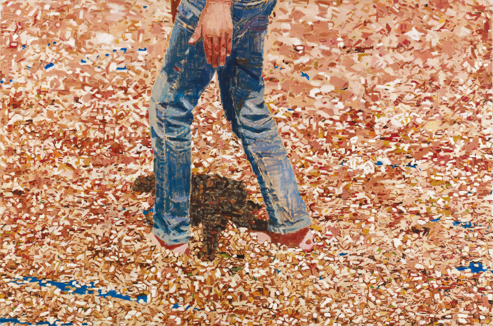 Stepping on Watermelon Seeds, 2017, oil on canvas, 100x150, Private Collection