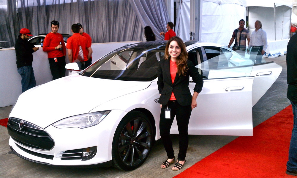 Starting my internship at the Model S release party!