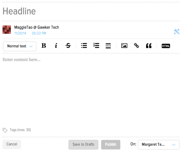 The Editor Redesign