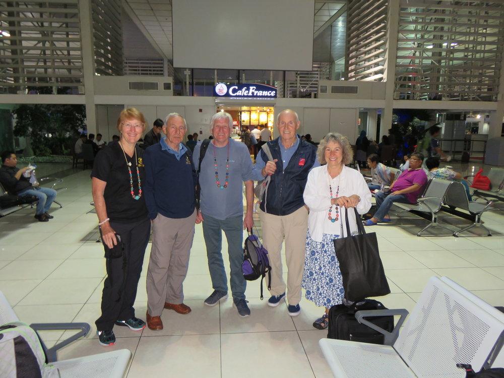 Margaret & Peter Howard, Ray Aucott, Roy Vale and Charlene James in Manila