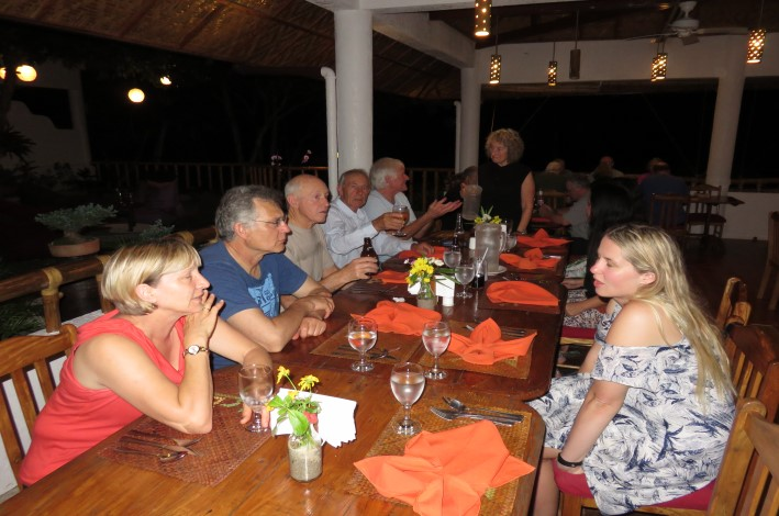 Our first hosted dinner in the Pura Vida Restaurant