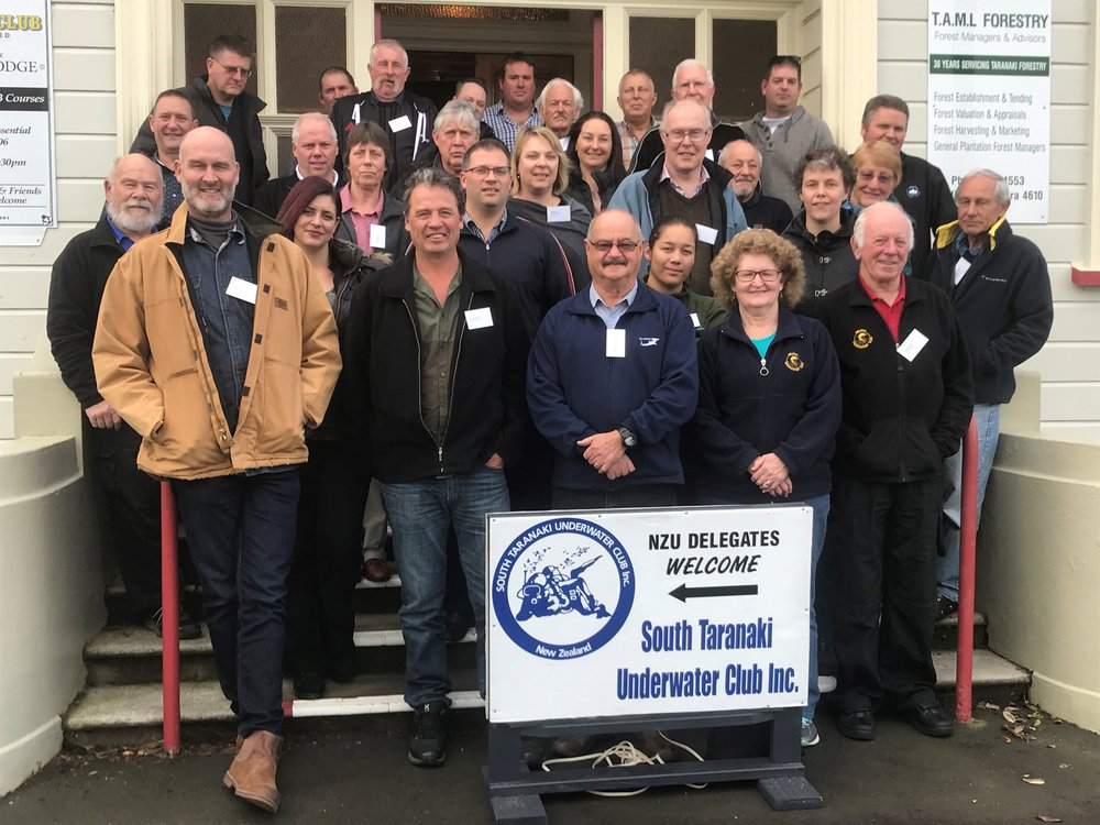 Attendees of the NZUA 65th Annual General Meeting. Photo credit: South Taranaki Underwater Club