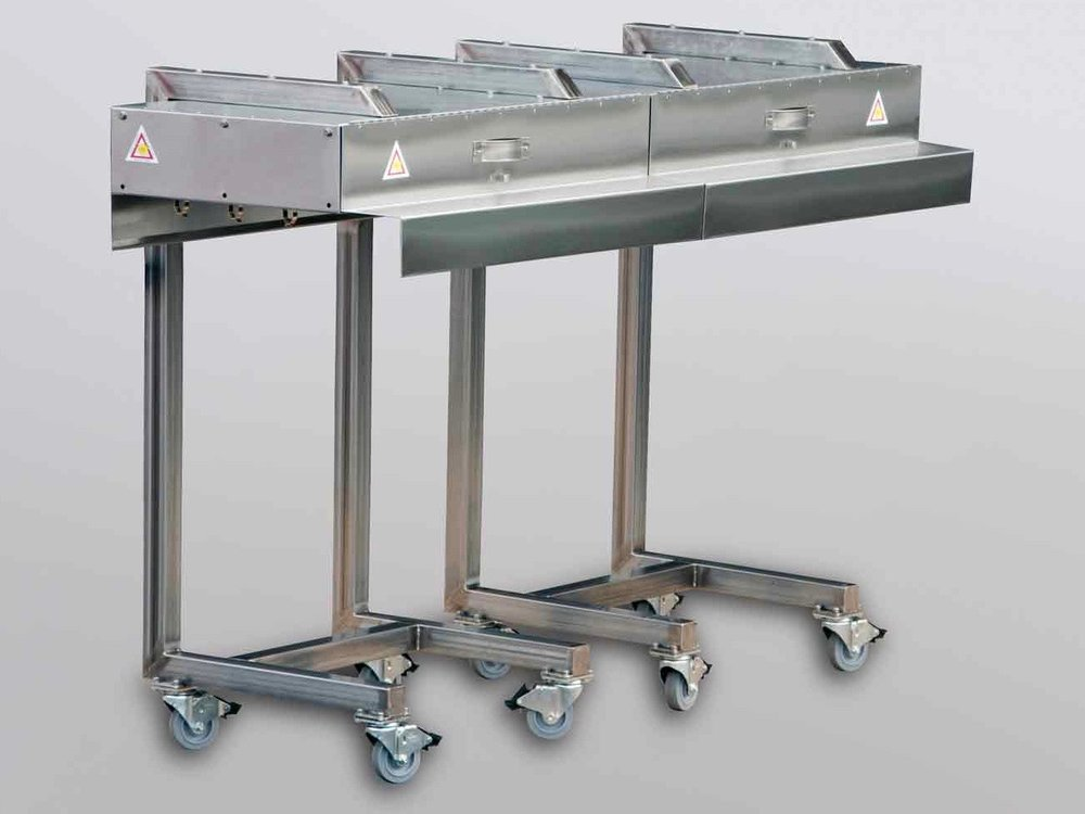Mobile Conveyor Fixture for Food Products Packaging