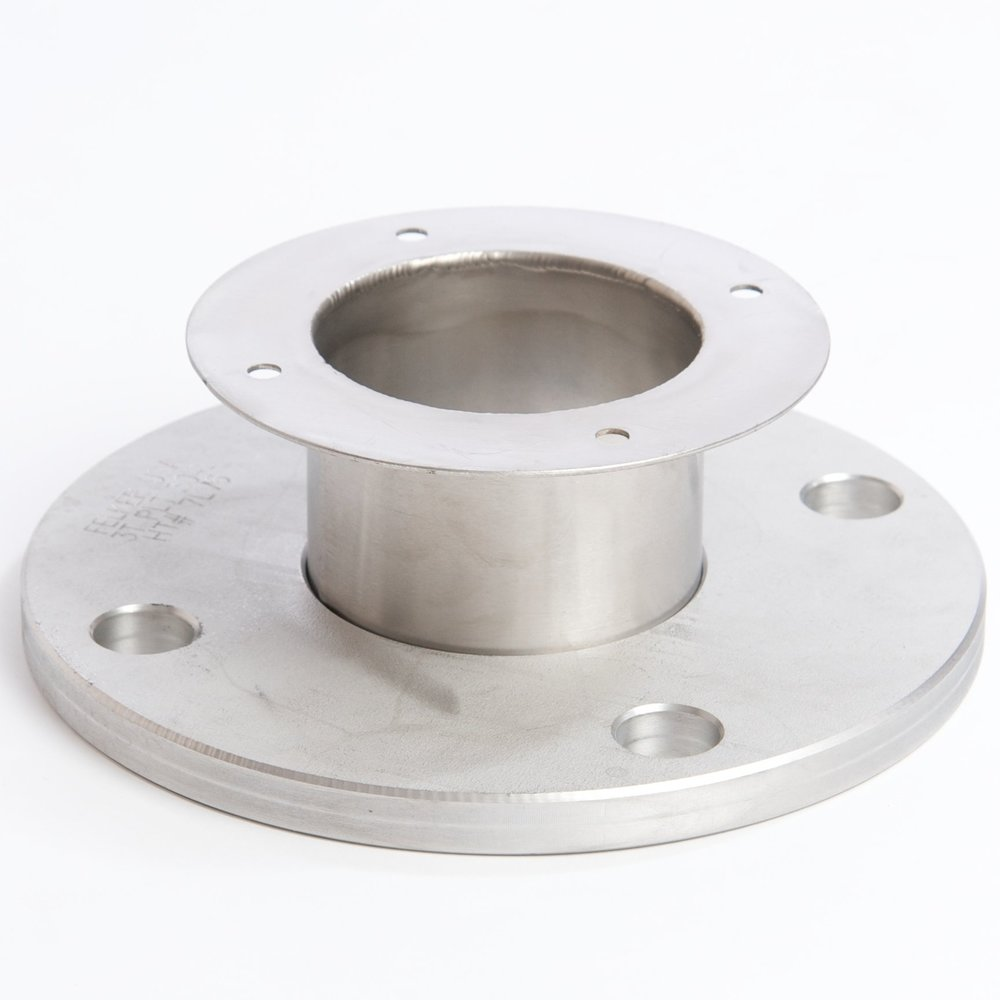 Plate Flange:  Available in 304 or 316 stainless steel; recommended for outdoor applications.