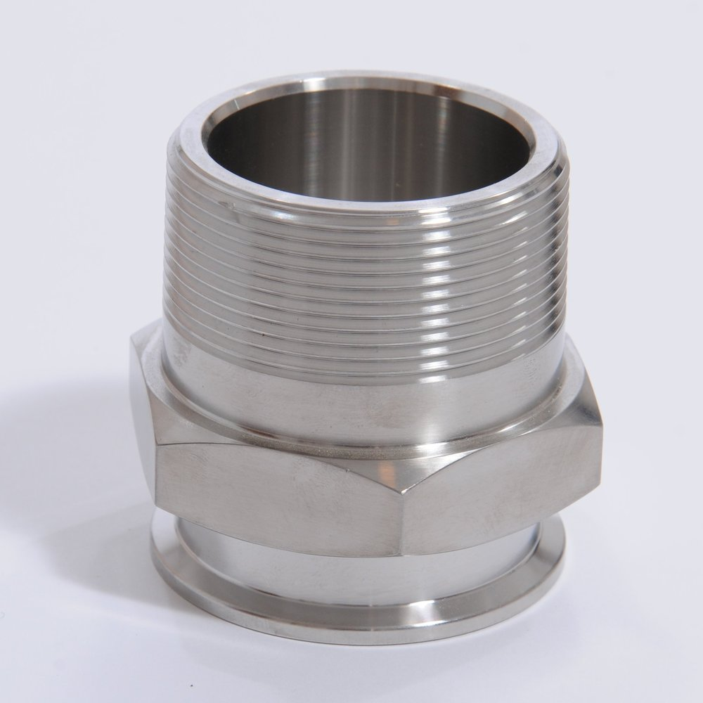 MPT Coupler:  Threaded stainless steel connection.