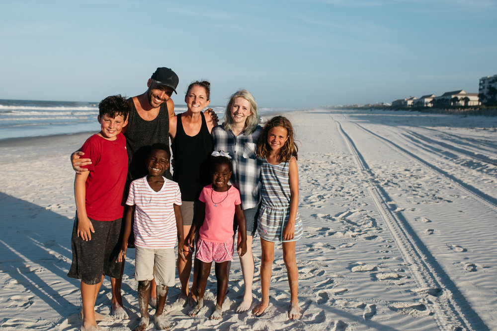 Professional photographer and humanitarian, Jeremy Cowart, his wife, myself and his children during their documentary shoot!