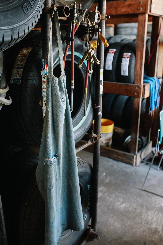 Pap's work apron.