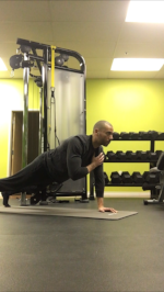 Shoulder touch Plank