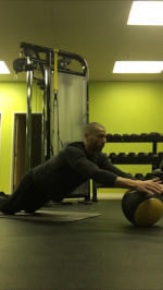 Arm Walk-Out   Medicine Ball Roll-Out