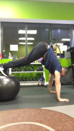 Stability Ball Pike     Roll-Out-Step 2