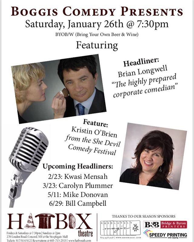 Boggis Comedy Presents Brian Longwell at The Hatbox Theatre in Concord, NH. #comedy  #concordnh #hatboxtheatre #boggiscomedy