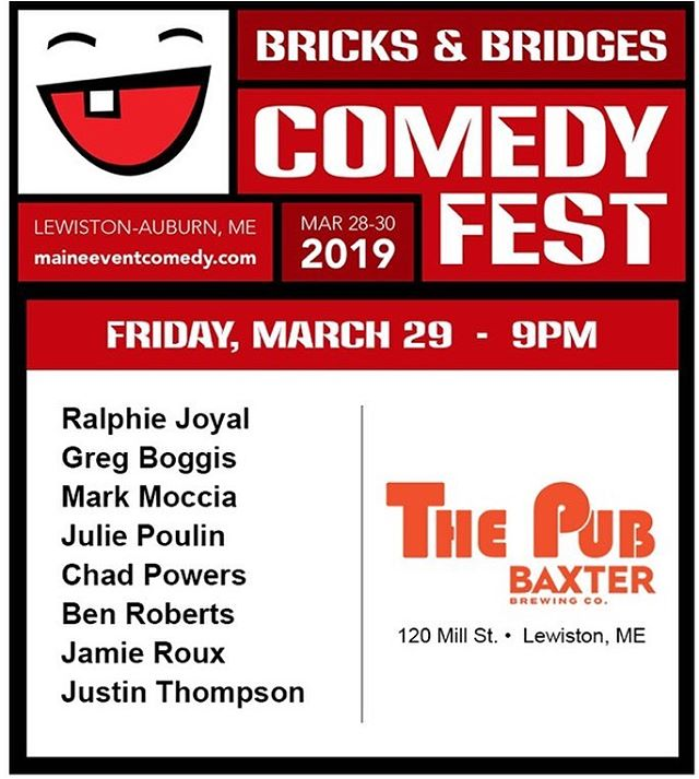 I will be heading back to Maine as part of this event. #comedy  #maine
