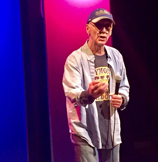 Bob Niles doing the stand-up thing at The Hatbox Theatre in Concord, NH. #hatboxtheatre #concordnh #boggiscomedy