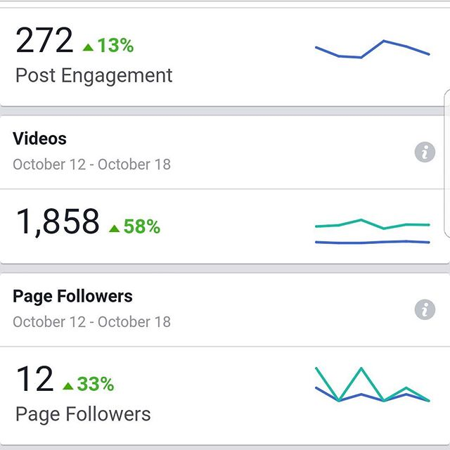 A client Facebook insight set for the last 7 days. This is how your insights will look if you start using boostes posts and dark post ad products. Need help? Let's talk. Call Jeremy: 773-234-7798  #chicagomarketingsolutions  #chicago #chicagomarketing #chicagomarketingfirm #facebookads #facebookadvertising #marketing