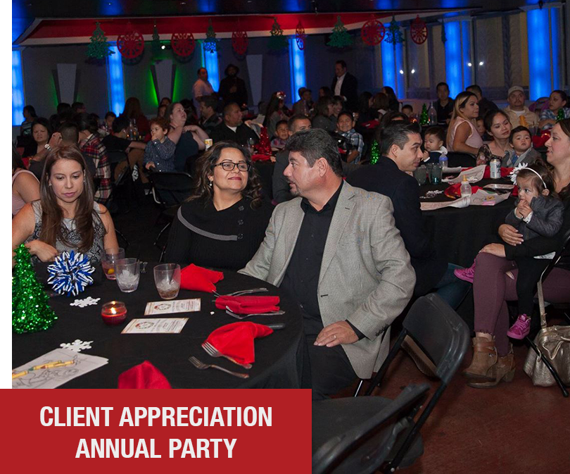 Our annual Client Appreciation Party is an event we look forward to every year. Where we gather all of our Raving Fans, friends, & partners into one arena and express our gratitude, while throwing one of the greatest parties of the year of course!
