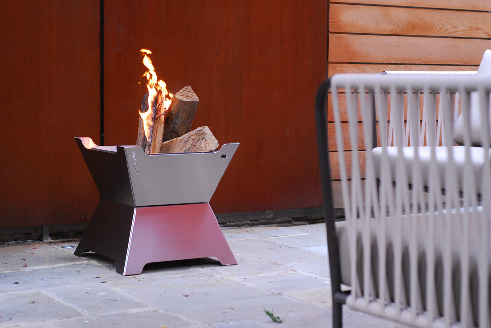 FUNSTON Fire Pit + Ice Chest / INOX