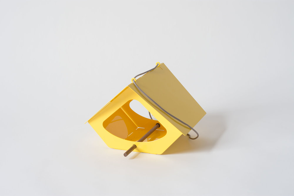 BEEKMAN Bird Feeder, Yellow | Modern Outdoor Living / @shiftmakes | Browse at www.shiftmakes.com/beekman