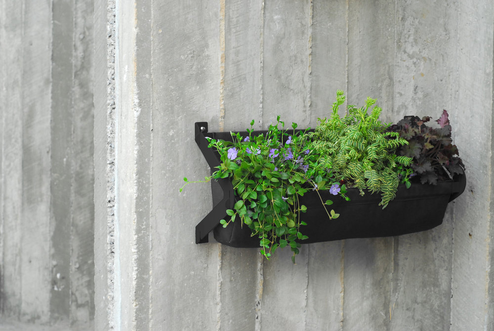 TUCKER Wall Planter, Black | Modern Outdoor Living / @shiftmakes | Browse at www.shiftmakes.com/tucker