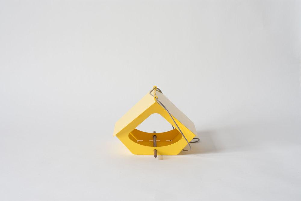 BEEKMAN Bird Feeder, Yellow | Modern Outdoor Living / @shiftmakes | Browse at www.shiftmakes.com/beekman