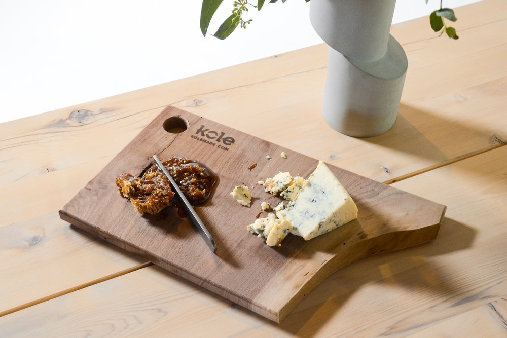 Kole Made - RAMBLER Picnic Table Cheeseboard, Ian Aandersson vase