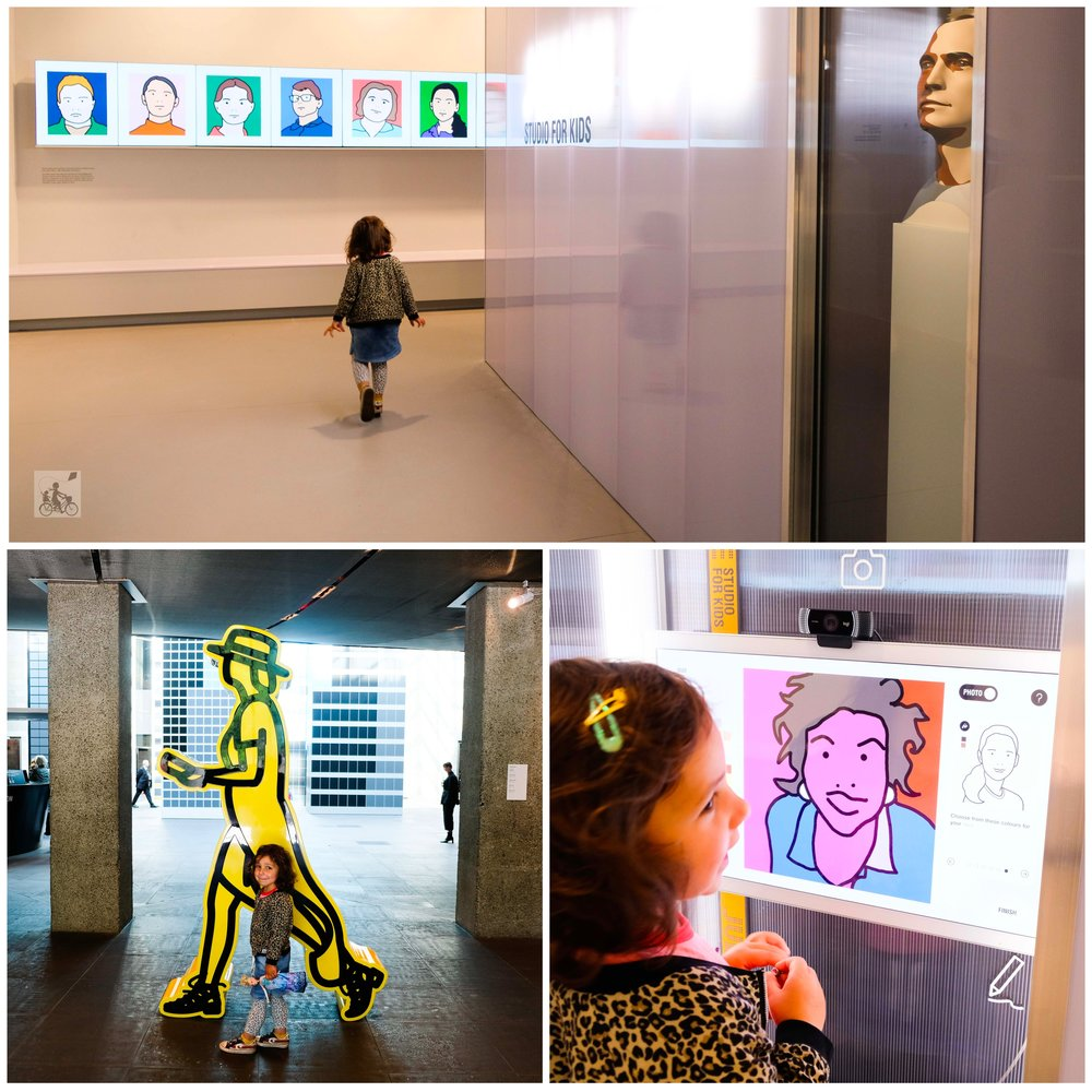 julian opie: studio for kids, ngv - mamma knows north