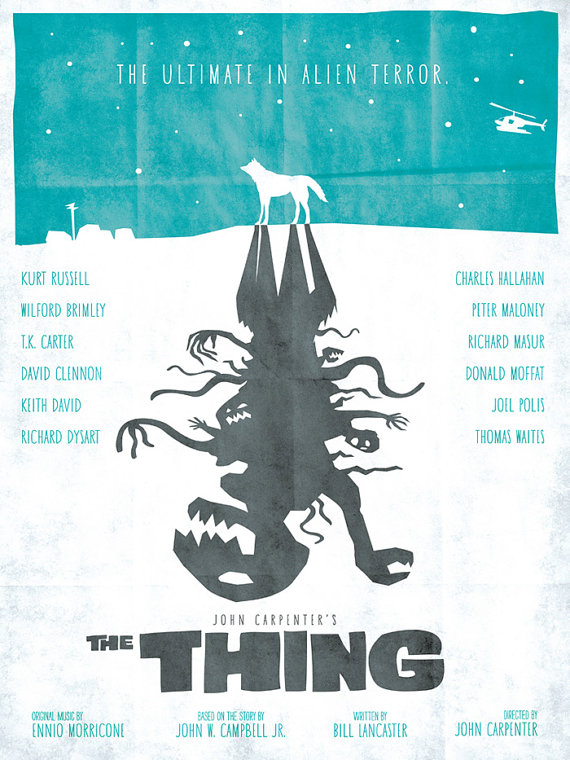 There is some seriously gorgeous fan art for The Thing.