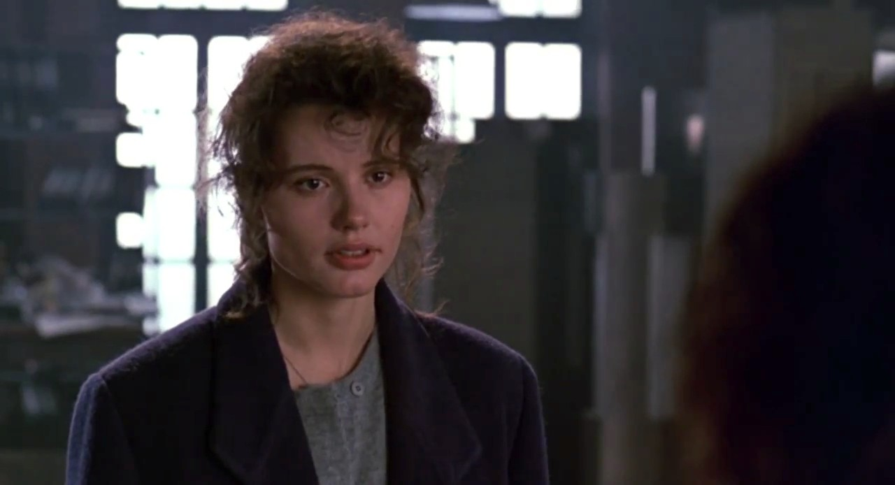 How beautiful is Geena Davis in this role, even when she's depressed about her horror of a boyfriend?