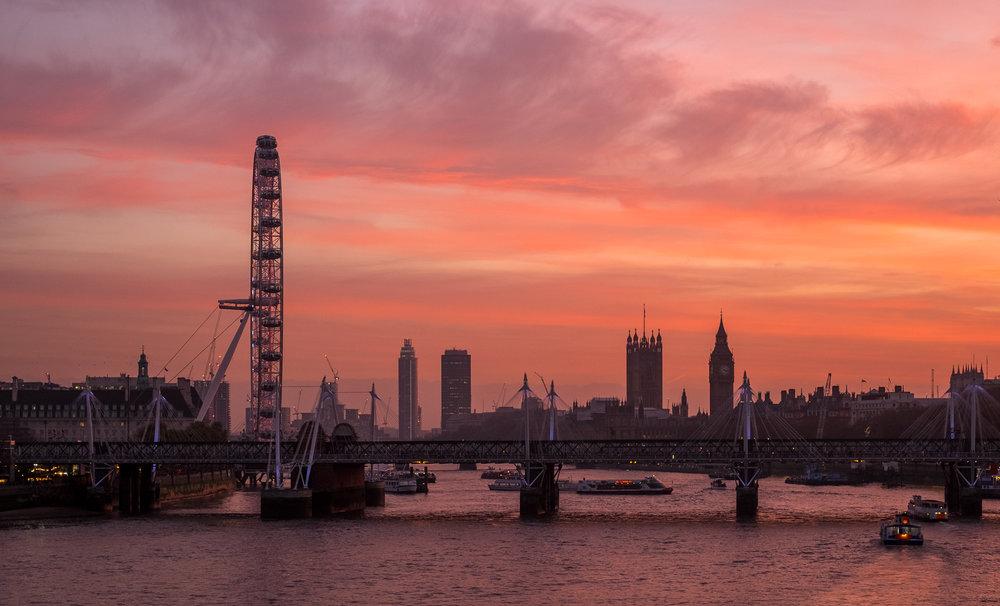 Pink City Sunset