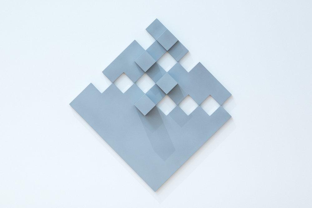 Diagonal Grey Relief