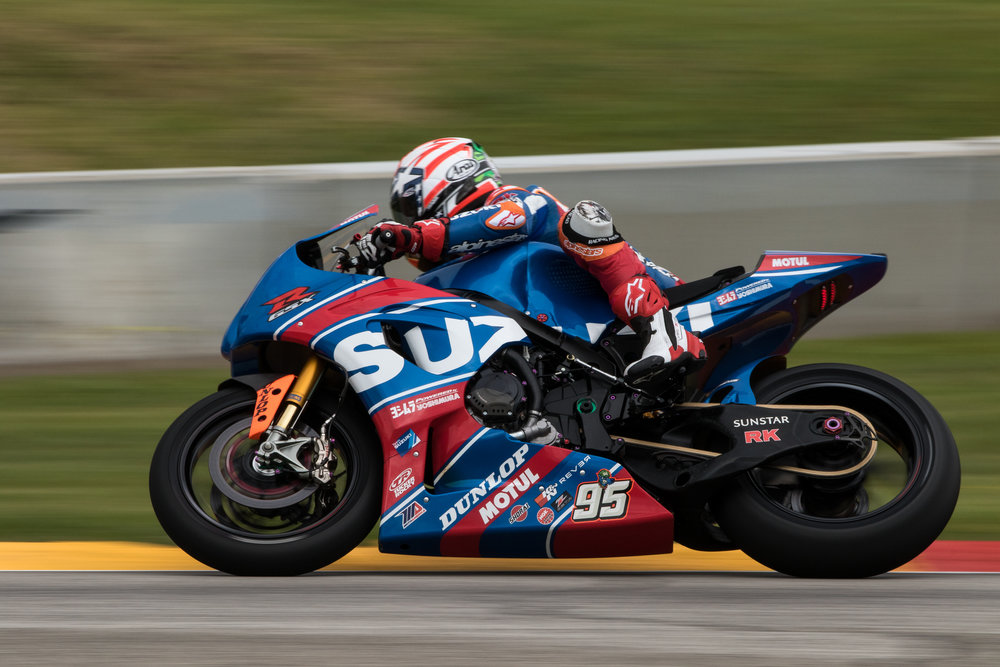 Roger Hayden flying through Turn 7 at Road America during the 2017 Dunlop Championship