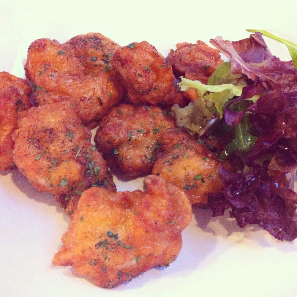 Korean style salt and pepper chicken at Topokki Birmingham
