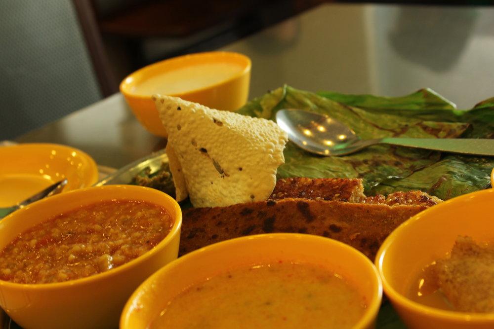 Gujarati snack platter at Swati snacks