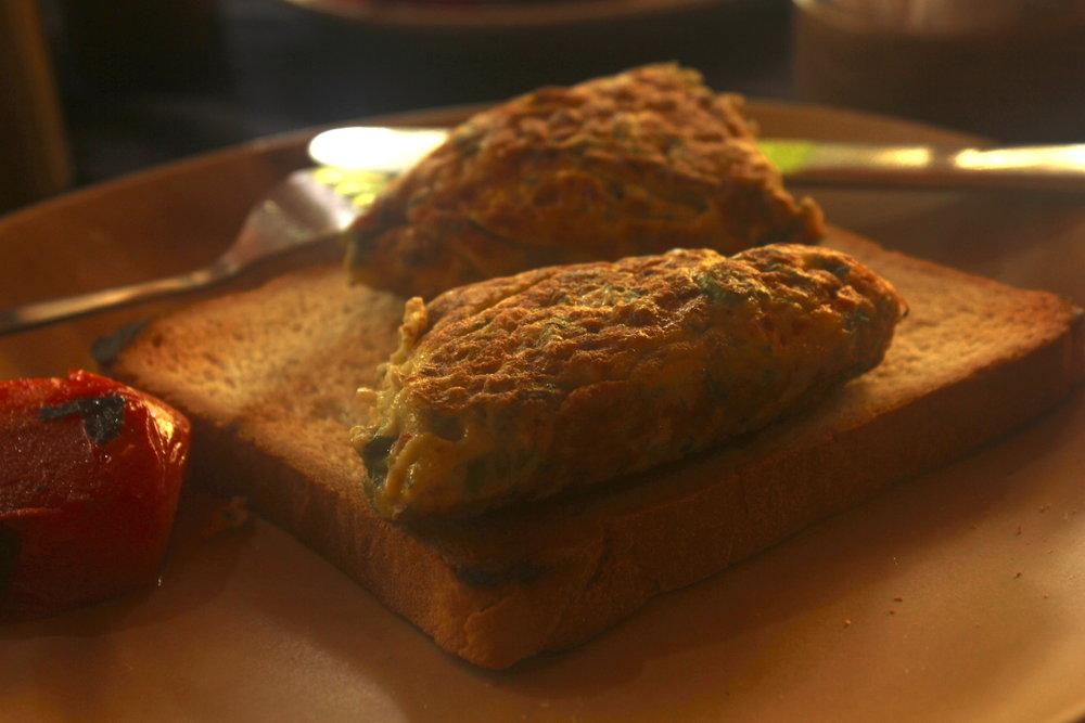 Masala omlette on toast