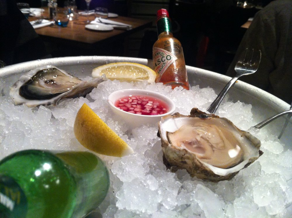 Devon rock oysters at Fishworks, London
