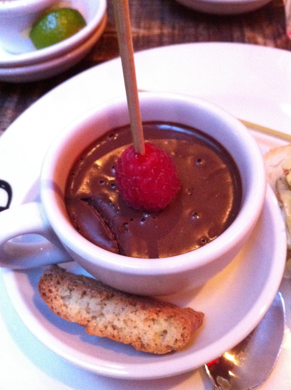 Chocolate mousse at Pix Pintxos Covent Garden