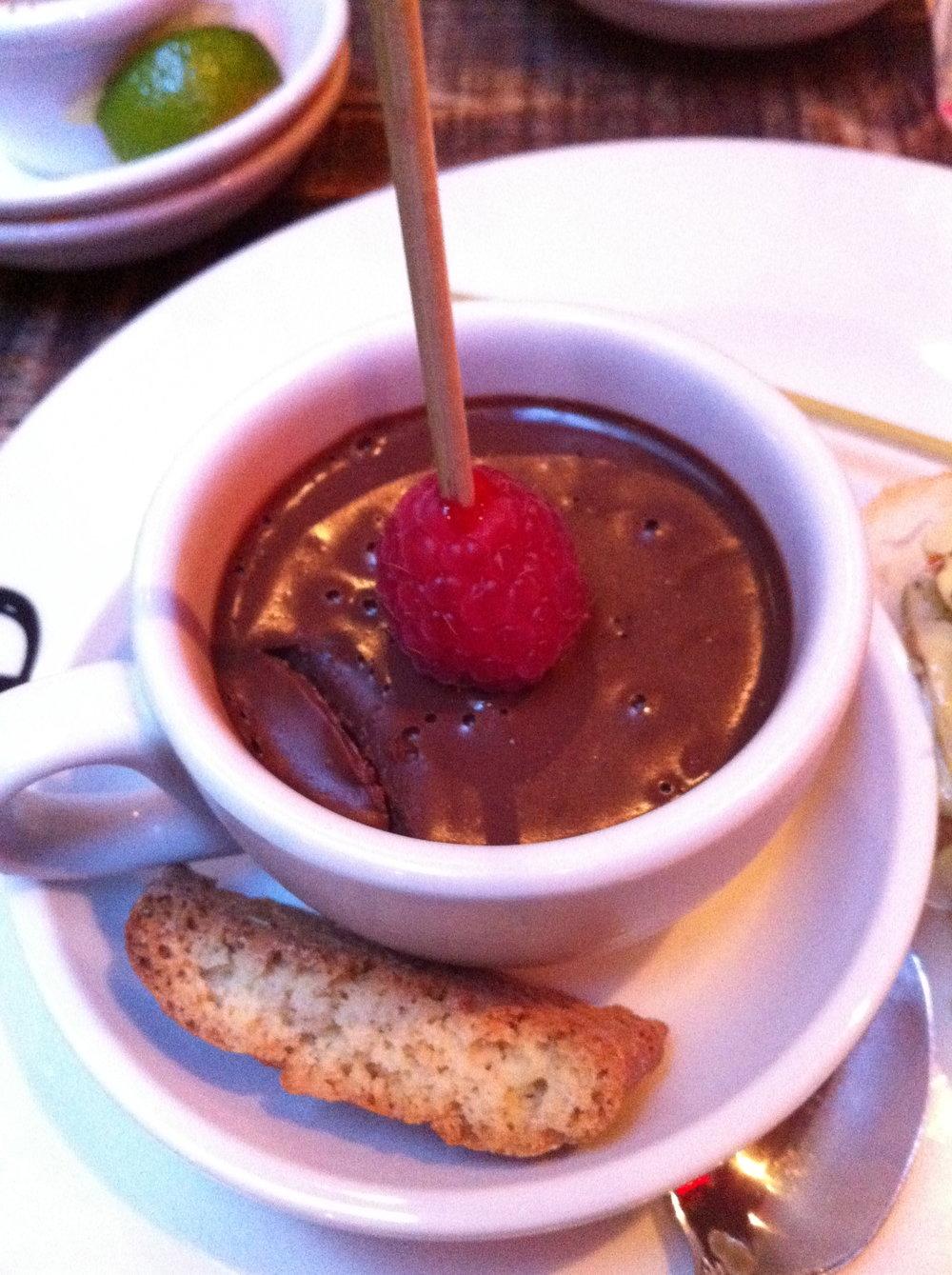 Chocolate mousse at Pix Pintxos Covent Garden