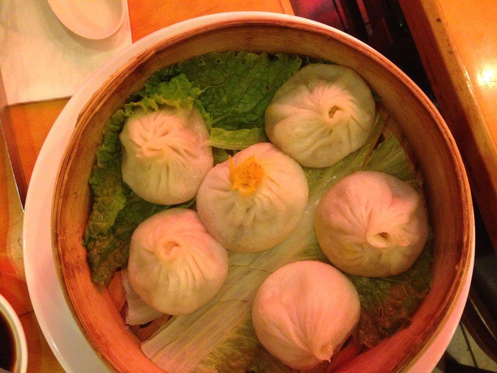 Pork and prawn soupy dumplings at Nan Xiang Xiao Dumpling House in Flushing, Queens