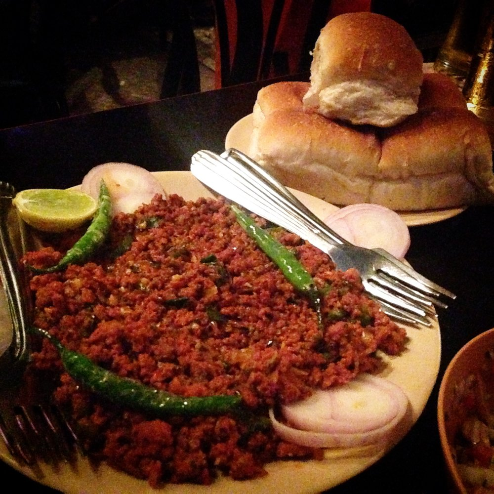 Keema pav at Totos Garage Bar, Mumbai