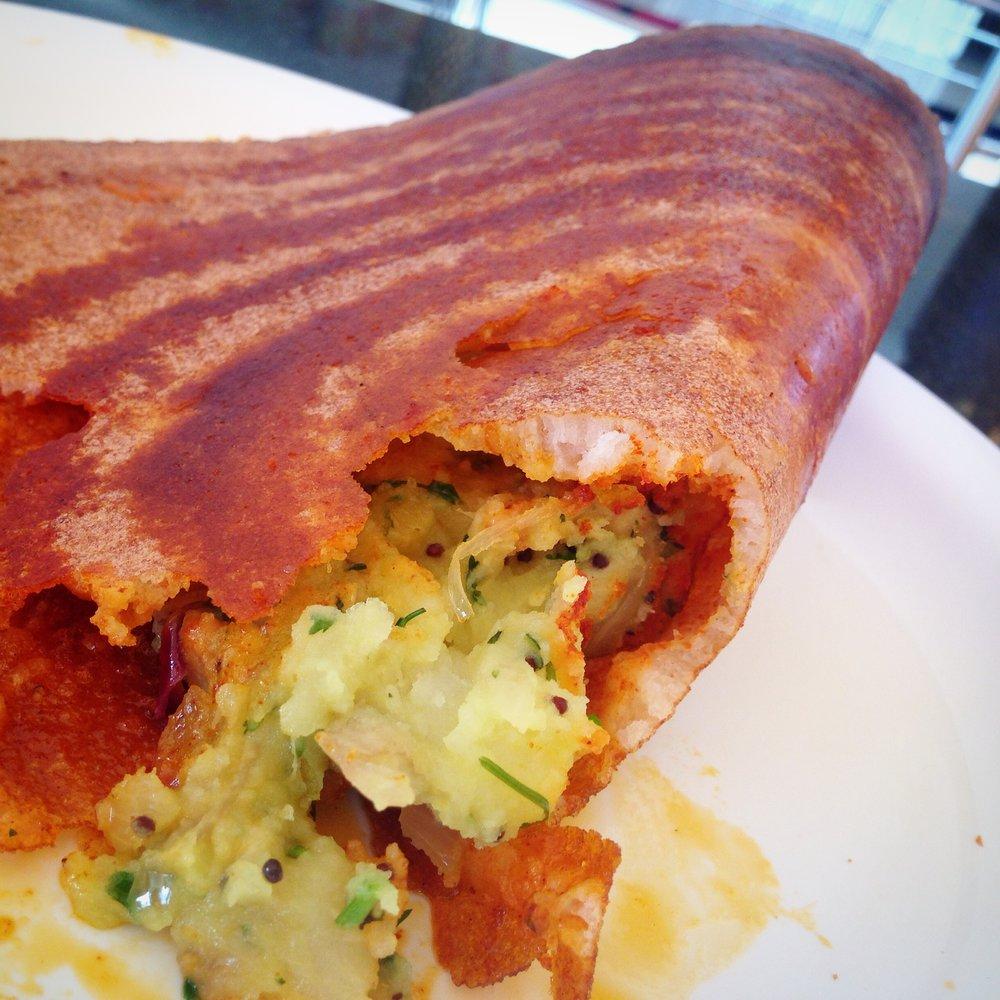 Kannadiga masala dosa - Karnataka food - Kannadiga food