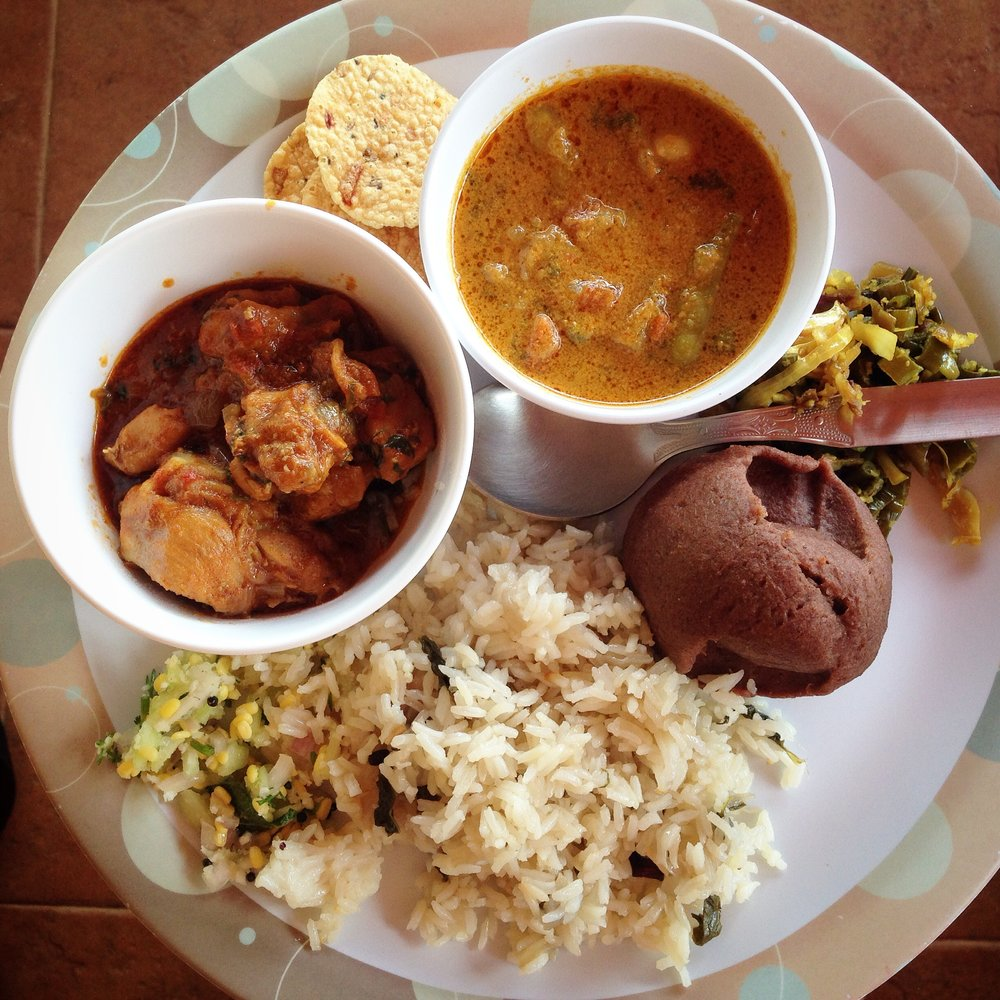 Traditional Chikmagalur lunch - Karnataka food - Kannadiga food