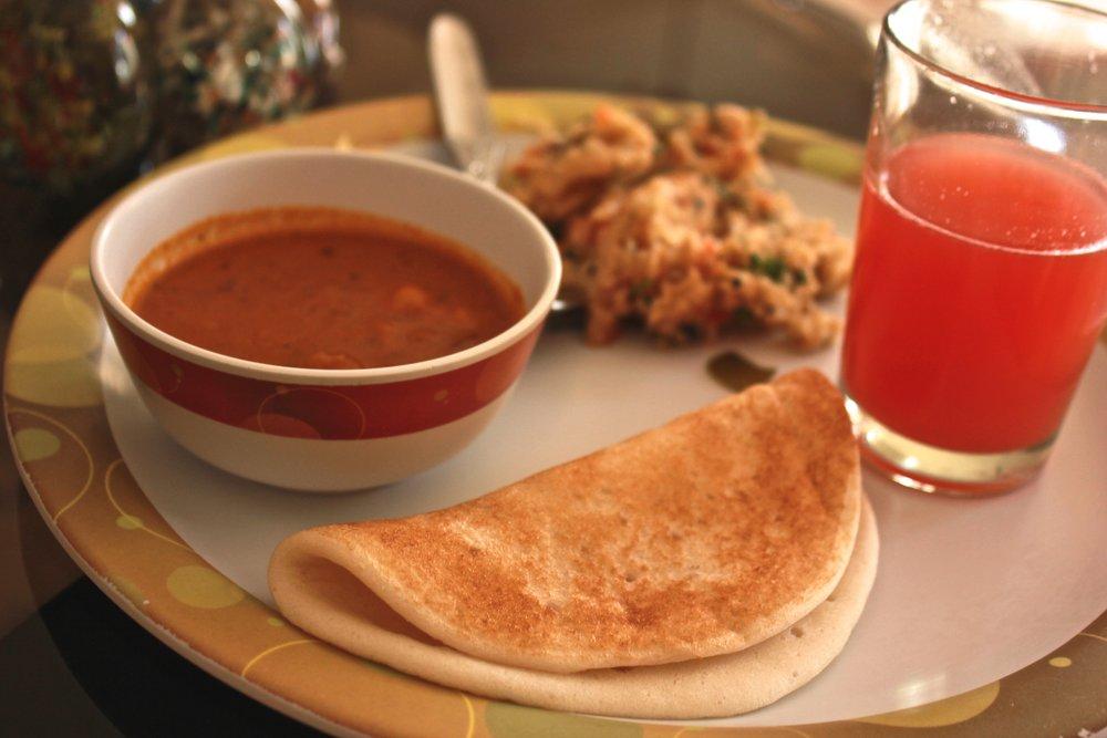 Breakfast at Chikmagalur, Karnataka