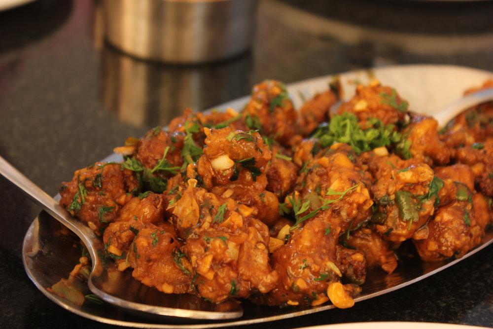 Gobhi manchoorien at Swathi Delicacy Karnataka - Karnataka food - Kannadiga food