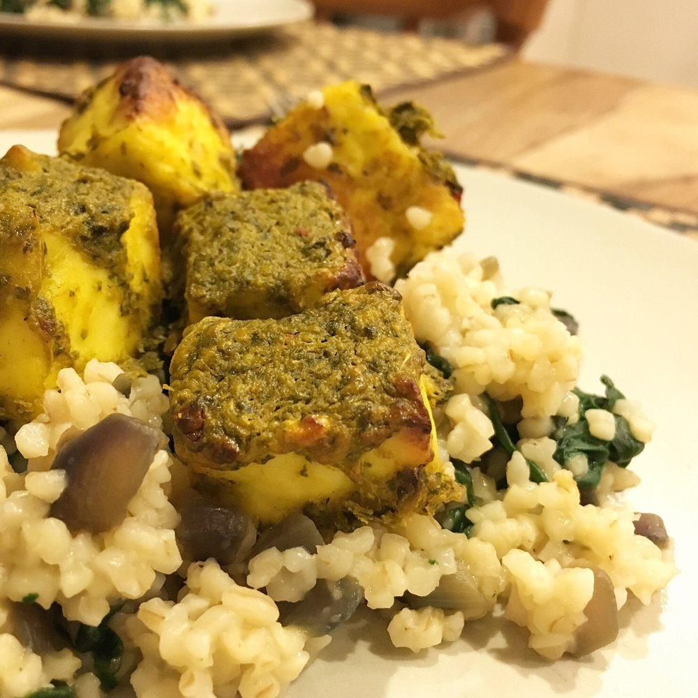 Hariyali paneer tikka recipe