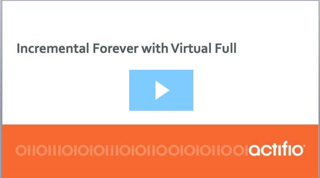 This is an easy listen for 10 minutes by Anthony Vandewerdt, Field CTO, APAC at Actifio, on the value of how Incremental-for-ever and Point-In-Time Virtual Copies Work.